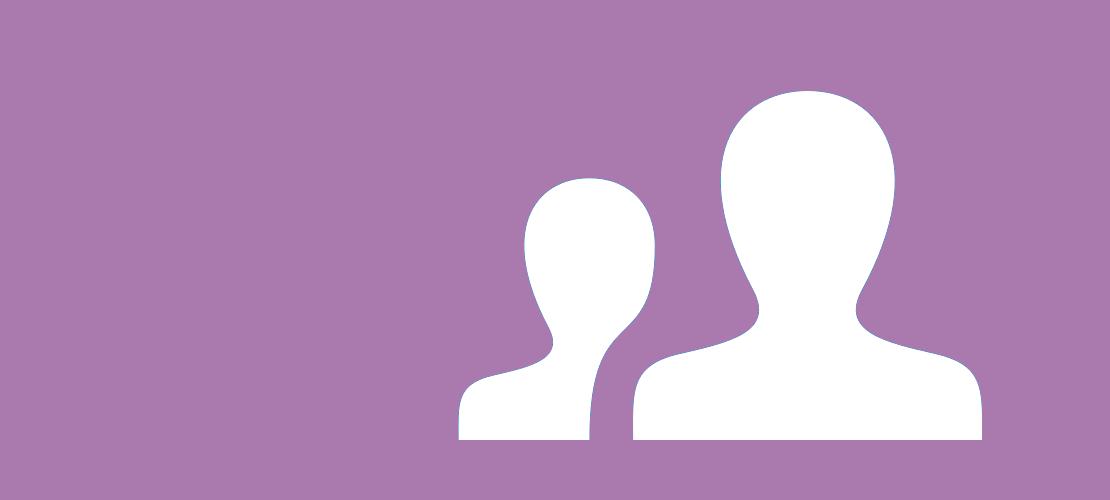 Symbolgrafik mit zwei Personen